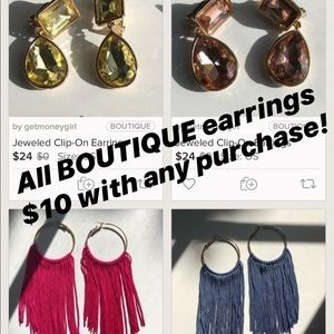 Bundle w/another item & only pay $10 for earrings!